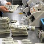 Международные резервы России упали на 1,5 млрд долларов
